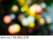 Купить «Bokeh New year background», фото № 30992278, снято 2 января 2018 г. (c) Яков Филимонов / Фотобанк Лори