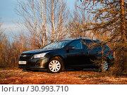 Купить «Chevrolet Cruze», фото № 30993710, снято 16 июня 2019 г. (c) Art Konovalov / Фотобанк Лори