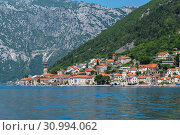 Купить «Herceg Novi ancient town in Perast bay in Montenegro», фото № 30994062, снято 10 июня 2019 г. (c) Володина Ольга / Фотобанк Лори