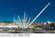 Купить «Old port of view of Genova city at coast line in Italy», фото № 31000378, снято 4 декабря 2017 г. (c) Яков Филимонов / Фотобанк Лори