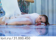 Купить «Turkish bath hammam foam wrap, spa treatments», фото № 31000450, снято 18 июля 2019 г. (c) Светлана Кузнецова / Фотобанк Лори