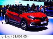 Купить «Renault Captur», фото № 31001054, снято 10 марта 2019 г. (c) Art Konovalov / Фотобанк Лори