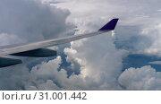 Купить «Aerial view from descending airplane», видеоролик № 31001442, снято 20 мая 2019 г. (c) Игорь Жоров / Фотобанк Лори
