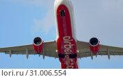 Купить «Airbus A320 AirBerlin departure», видеоролик № 31006554, снято 22 июля 2017 г. (c) Игорь Жоров / Фотобанк Лори