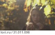 Beauty romantic girl outdoors. Стоковое видео, видеограф Denis Mishchenko / Фотобанк Лори
