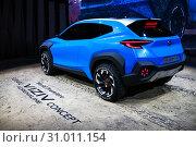 Купить «Subaru Viziv Adrenaline», фото № 31011154, снято 10 марта 2019 г. (c) Art Konovalov / Фотобанк Лори