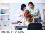 Купить «Old teacher and students in the classroom», фото № 31041102, снято 26 апреля 2019 г. (c) Elnur / Фотобанк Лори