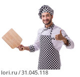 Купить «Male cook isolated on the white background», фото № 31045118, снято 6 июля 2017 г. (c) Elnur / Фотобанк Лори