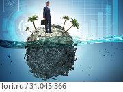 Offshore accounts concept with businessman. Стоковое фото, фотограф Elnur / Фотобанк Лори