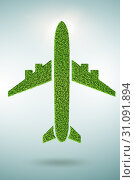 Купить «Green environmentally friendly vehicle concept - 3d rendering», фото № 31091894, снято 18 августа 2019 г. (c) Elnur / Фотобанк Лори