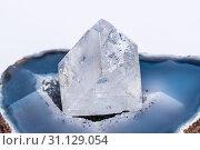 White clear crystal diamond gemstone gem jewel mineral precious 2. Стоковое фото, фотограф YAY Micro / easy Fotostock / Фотобанк Лори