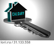 Купить «Calgary Real Estate Icon Shows Property For Sale Or Rent In Alberta. Investment Agents Or Brokers Symbol 3d Illustration», фото № 31133558, снято 3 июля 2013 г. (c) easy Fotostock / Фотобанк Лори