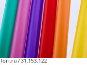 Different color of straw on a white background. Стоковое фото, фотограф YAY Micro / easy Fotostock / Фотобанк Лори