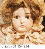 Купить «Abandoned doll with glass eyes - Close up - Vintage toys», фото № 31154934, снято 11 января 2018 г. (c) easy Fotostock / Фотобанк Лори