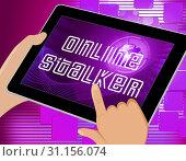 Купить «Online Stalker Evil Faceless Bully 3d Illustration Shows Cyberattack or Cyberbullying By A Suspicious Spying Stranger», фото № 31156074, снято 13 августа 2014 г. (c) easy Fotostock / Фотобанк Лори