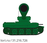 Купить «Line drawing of a World War 2 heavy type tank looking at the barrel», фото № 31216726, снято 14 февраля 2019 г. (c) easy Fotostock / Фотобанк Лори