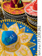 Variety of Sombreros On Sale By Local Mexico Vendors. Стоковое фото, фотограф Andy Dean Photography / easy Fotostock / Фотобанк Лори