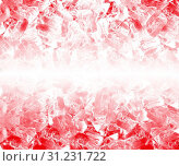 Background of red ice cubes. Стоковое фото, фотограф YAY Micro / easy Fotostock / Фотобанк Лори