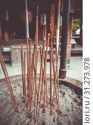 Купить «Incense sticks in Kinkaku-ji golden temple, Kyoto, Japan», фото № 31273978, снято 15 мая 2016 г. (c) easy Fotostock / Фотобанк Лори