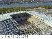 Купить «Construction of the stadium. New stadium, sports facility», фото № 31301374, снято 20 сентября 2019 г. (c) easy Fotostock / Фотобанк Лори