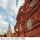 Купить «State Historical Museum of Russia, wedged between Red Square and Manege Square in Moscow, Russia», фото № 31331798, снято 4 августа 2012 г. (c) Владимир Журавлев / Фотобанк Лори
