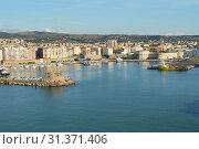 Купить «Panoramic view of Civitavecchia port, coast, port, buildings, October 7, 2018.», фото № 31371406, снято 7 октября 2018 г. (c) easy Fotostock / Фотобанк Лори