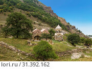 Medieval monastery Srbanes, VIII-XVII centuries and an ancient cemetery in the foreground. Armenia (2018 год). Стоковое фото, фотограф Наталья Волкова / Фотобанк Лори