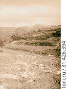 Tibna, north west of Jerusalem, Upper Beth Horon 1900, West Bank, Israel (2018 год). Редакционное фото, фотограф © Liszt Collection / age Fotostock / Фотобанк Лори