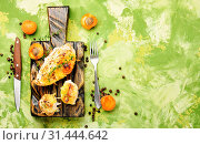 Купить «Dish from chicken breast stuffed with ripe apricot», фото № 31444642, снято 15 июля 2018 г. (c) easy Fotostock / Фотобанк Лори
