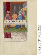 Купить «Judas Seated at a Table between Christ and the Virgin, Master of Guillaume Lambert and workshop (French, active about 1475 - 1485), Lyon, France, about...», фото № 31463222, снято 7 сентября 2018 г. (c) age Fotostock / Фотобанк Лори