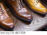 Купить «men footwear boutique store», фото № 31467554, снято 22 июля 2019 г. (c) Сергей Петерман / Фотобанк Лори
