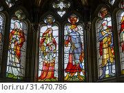 Купить «Cardiff Castle, stained glass window, in Banquet Hall, Cardiff, Wales.», фото № 31470786, снято 4 апреля 2020 г. (c) age Fotostock / Фотобанк Лори