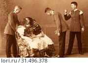 Dance of Germany, Flirting, Army of Saxony, 1913, Meißen, Grenadiere Tanz (2019 год). Редакционное фото, фотограф Copyright Liszt Collection / age Fotostock / Фотобанк Лори