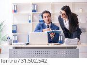 Two employees working in the office. Стоковое фото, фотограф Elnur / Фотобанк Лори