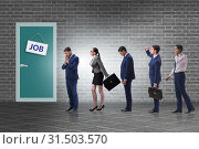 Купить «Recruitment concept with business people», фото № 31503570, снято 17 августа 2019 г. (c) Elnur / Фотобанк Лори