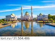 Купить «Белая мечеть. Булгар. Республика Татарстан», фото № 31504486, снято 25 мая 2019 г. (c) Сергей Афанасьев / Фотобанк Лори