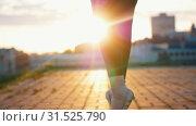 Купить «Young attractive ballerina in pointe gets up on her tiptoe and dances ballet», видеоролик № 31525790, снято 27 мая 2020 г. (c) Константин Шишкин / Фотобанк Лори