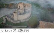 Top view of the castle Castillo de Javier. Huesca Province. Aragon. Spain (2018 год). Стоковое видео, видеограф Яков Филимонов / Фотобанк Лори