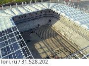 Купить «Construction of the stadium. New stadium, sports facility», фото № 31528202, снято 20 сентября 2019 г. (c) easy Fotostock / Фотобанк Лори