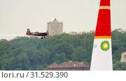 Купить «Racing airplane on track», видеоролик № 31529390, снято 14 июня 2019 г. (c) Игорь Жоров / Фотобанк Лори