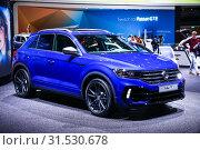Купить «Volkswagen T-Roc», фото № 31530678, снято 10 марта 2019 г. (c) Art Konovalov / Фотобанк Лори