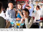 Купить «Sad woman at office party», фото № 31532326, снято 25 марта 2019 г. (c) Яков Филимонов / Фотобанк Лори