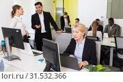 Купить «Business people working in coworking space», фото № 31532366, снято 10 марта 2018 г. (c) Яков Филимонов / Фотобанк Лори
