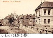 Buildings in Chomutov, 1912, Ústí nad Labem Region, Komotau, Sandgasse, Czech Republic (2019 год). Редакционное фото, фотограф Copyright Liszt Collection / age Fotostock / Фотобанк Лори