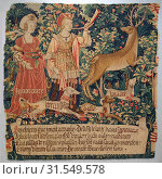 Vanity Sounds the Horn and Ignorance Unleashes the Hounds Overconfidence, Rashness and Desire (from The Hunt of the Frail Stag), ca. 1495–1510, South... (2017 год). Редакционное фото, фотограф PHOTO / age Fotostock / Фотобанк Лори