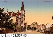 Buildings in Ústí nad Labem, Churches in Ústí nad Labem, 1911, Ústí nad Labem Region, Aussig, Teplitzer Straße, Czech Republic (2019 год). Редакционное фото, фотограф Copyright Liszt Collection / age Fotostock / Фотобанк Лори