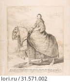 Isabel of Bourbon, Queen of Spain and wife of Philip IV (D. Isabel de Borbon, Reyna de España, muger de Felipe Quarto), 1778, Etching and drypoint, Plate... (2017 год). Редакционное фото, фотограф © Copyright Artokoloro Quint Lox Limited / age Fotostock / Фотобанк Лори