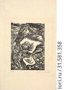 Купить «Group in a Storm (Gruppe im Sturm), 1919, Woodcut, block: 7 1/8 x 5 1/16 (18.1 x 12.9 cm), Prints, Ernst Barlach (German, Wedel 1870–1938 Rostock)», фото № 31581358, снято 22 апреля 2017 г. (c) age Fotostock / Фотобанк Лори