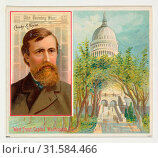 Crosby S. Noyes, The Washington Evening Star, from the American Editors series (N35) for Allen & Ginter Cigarettes, 1887, Commercial color lithograph,... (2017 год). Редакционное фото, фотограф © Copyright Artokoloro Quint Lox Limited / age Fotostock / Фотобанк Лори