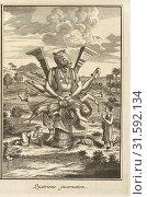 Купить «Fourth Incarnation, Ceremonies et coutumes religieuses de tous les peuples du monde, Picart, Bernard, 1673-1733, Engraving, 1723-1743. Plate, 38, follows...», фото № 31592134, снято 7 сентября 2018 г. (c) age Fotostock / Фотобанк Лори